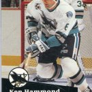 Rookie Ken Hammond 1991/92 Pro Set #484 Hockey Card Near Mint Condition