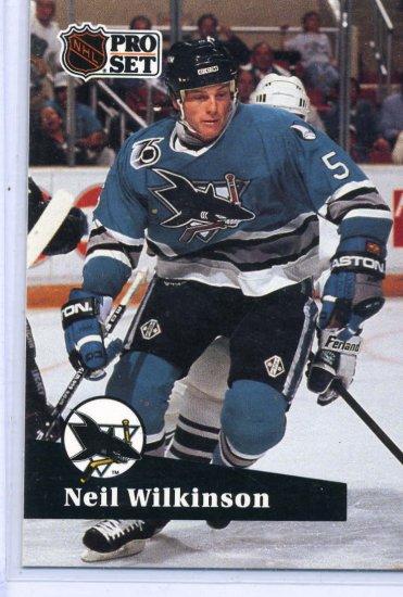 Neil Wilkinson 1991/92 Pro Set #483 Hockey Card Near Mint Condition