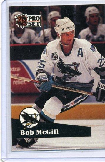Bob McGill 91/92 Pro Set #480 NHL Hockey Card Near Mint Condition