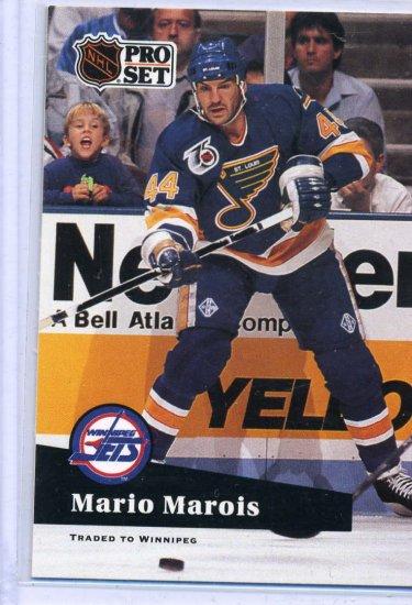 Mario Marois 1991/92 Pro Set #477 Hockey Card Near Mint Condition