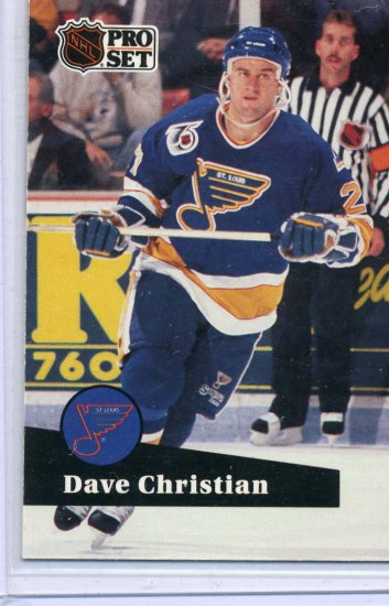 Dave Christian 91/92 Pro Set #471 NHL Hockey Card Near Mint Condition