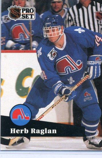 Herb Raglan 91/92 Pro Set #470 NHL Hockey Card Near Mint Condition