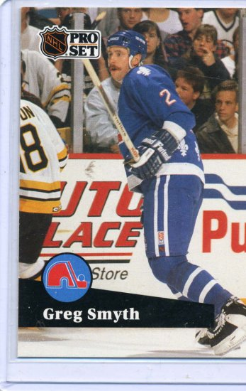 Rookie Greg Smyth 1991/92 Pro Set #465 Hockey Card Near Mint Condition