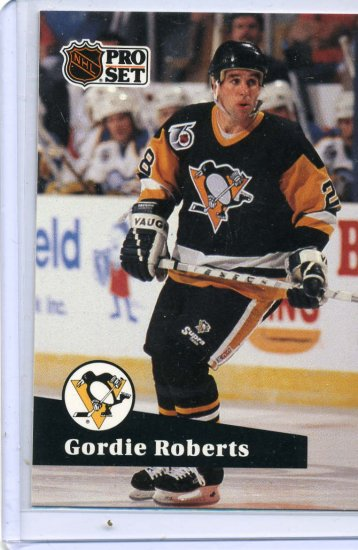 Gordie Roberts 91/92 Pro Set #458 NHL Hockey Card Near Mint Condition