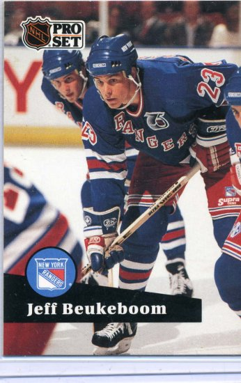 Jeff Beukeboom 91/92 Pro Set #444 NHL Hockey Card Near Mint Condition