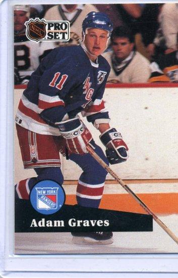 Adam Graves 91/92 Pro Set #443 NHL Hockey Card Near Mint Condition