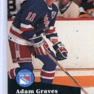 Adam Graves 91/92 Pro Set #443 NHL Hockey Card Near Mint Condition