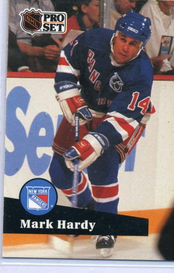 Mark Hardy 1991/92 Pro Set #442 NHL Hockey Card Near Mint Condition