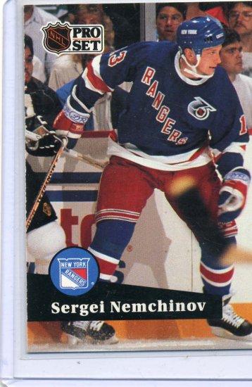 Sergei Nemchinov Rookie Year 1991/92 Pro Set #441 NHL Hockey Card Near Mint Condition