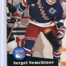Sergei Nemchinov Rookie Year 1991/92 Pro Set #441 NHL Hockey Card Near Mint Condition
