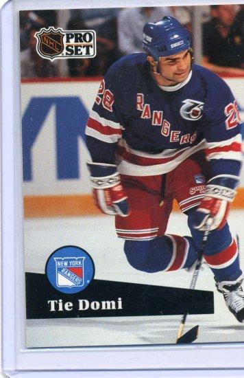 Tie Domi 1991/92 Pro Set #440 NHL Hockey Card Near Mint Condition