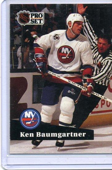 Ken Baumgartner 1991/92 Pro Set #432 NHL Hockey Card Near Mint Condition