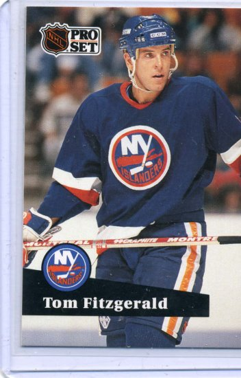Tom Fitzgerald 1991/92 Pro Set #431 NHL Hockey Card Near Mint Condition