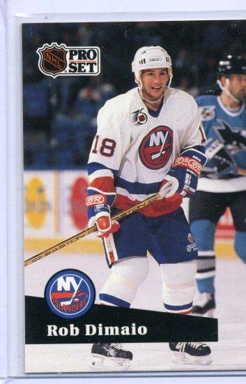 Rob DiMaio 1991/92 Pro Set #430 NHL Hockey Card Near Mint Condition