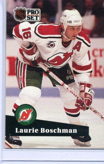 Laurie Boschman 1991/92 Pro Set #426 NHL Hockey Card Near Mint Condition