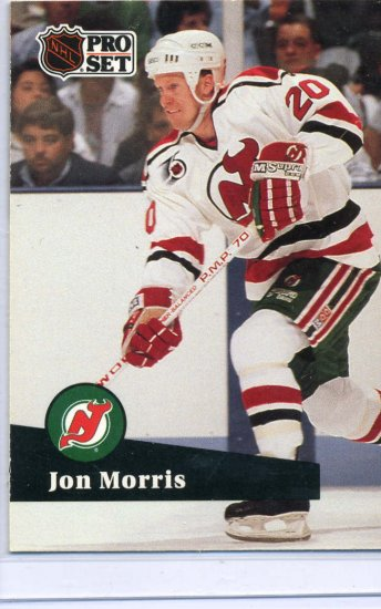 Jon Morris 1991/92 Pro Set #424 NHL Hockey Card Near Mint Condition