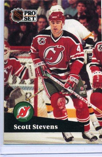 Scott Stevens 1991/92 Pro Set #423 NHL Hockey Card Near Mint Condition