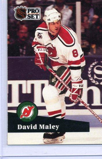 David Maley 91/92 Pro Set #421 NHL Hockey Card Near Mint Condition