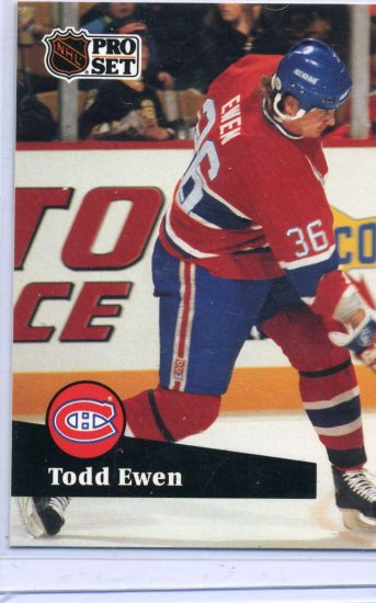 Todd Ewen 91/92 Pro Set #419 NHL Hockey Card Near Mint Condition