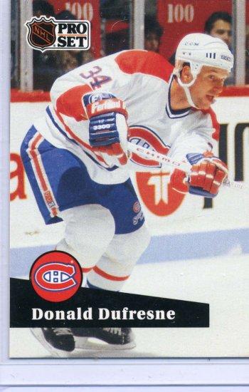 Donald Dufresne 91/92 Pro Set #418 NHL Hockey Card Near Mint Condirion