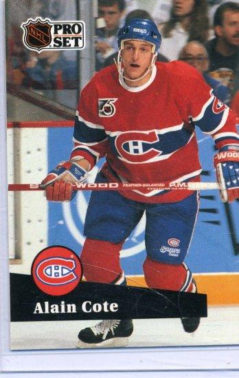 Rookie Alain Cote 91/92 Pro Set #417 NHL Hockey Card Near Mint Condition