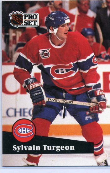 Sylvain Turgeon 91/92 Pro Set #416 NHL Hockey Card Near Mint Condition