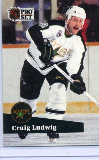 Craig Ludwig 91/92 Pro Set #411 NHL Hockey Card Near Mint Condition