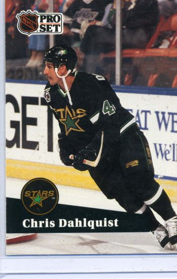 Chris Dahlquist 91/92 Pro Set #408 NHL Hockey Card Near Mint Condition