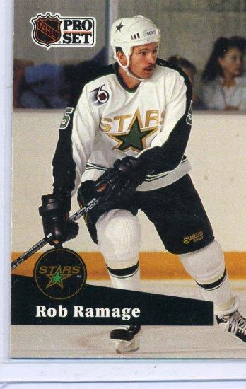 Rob Ramage 91/92 Pro Set #407 NHL Hockey Card Near Mint Condition