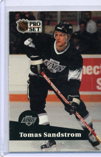 Tomas Sandstrom 91/92 Pro Set #97 NHL Hockey Card Near Mint Condition