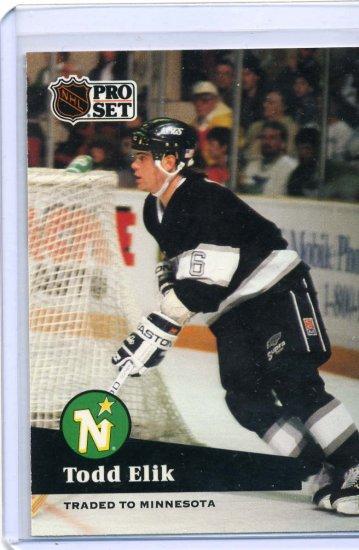 Todd Elik 91/92 Pro Set #94 NHL Hockey Card Near Mint Condition