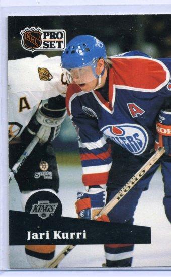Jari Kurri 1991/92 Pro Set #93 NHL Hockey Card Near Mint Condition