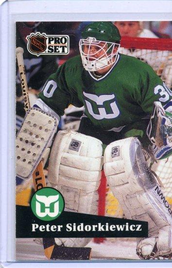 Peter Sidorkiewicz 1991/92 Pro Set #90 NHL Hockey Card Near Mint Condition