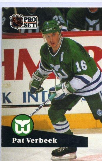 Pat Verbeek 1991/92 Pro Set #86 NHL Hockey Card Near Mint Condition