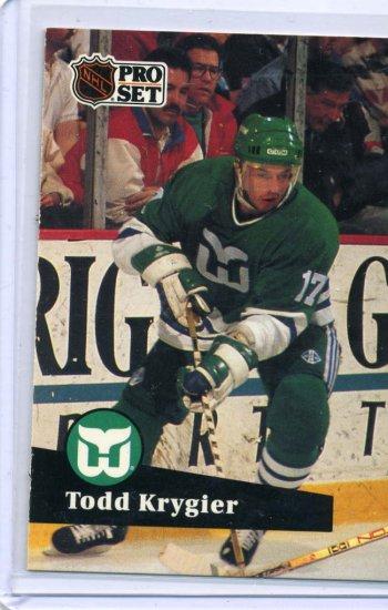 Todd Krygier 1991/92 Pro Set #83 NHL Hockey Card Near Mint Condition