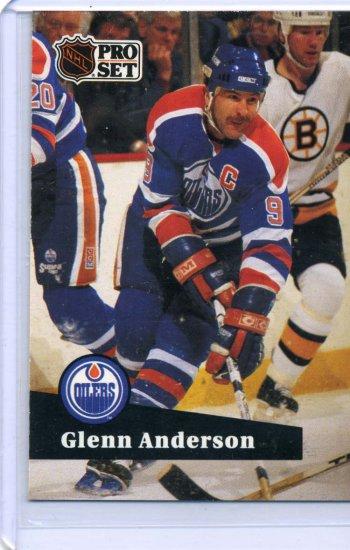 Glenn Anderson 1991/92 Pro Set #75 NHL Hockey Card Near Mint Condition