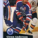 Glenn Anderson 1991/92 Pro Set #75 NHL Hockey Card Near Mint Condition