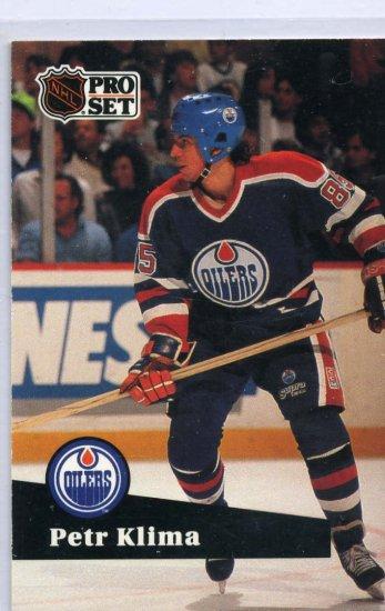 Petr Klima 1991/92 Pro Set #72 NHL Hockey Card Near Mint Condition