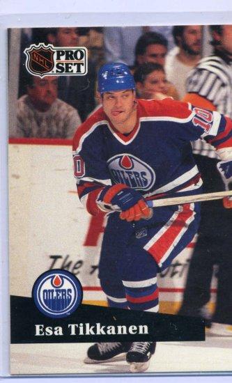 Esa Tikkanen 1991/92 Pro Set #71 NHL Hockey Card Near Mint Condition