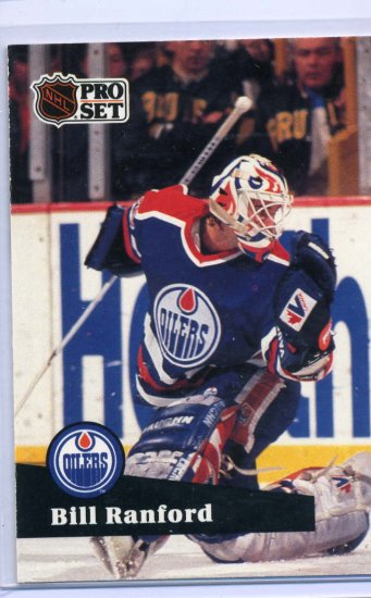 Bill Ranford 1991/92 Pro Set #70 NHL Hockey Card Near Mint Condition