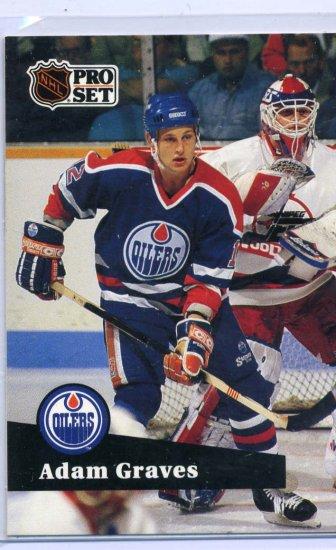 Adam Graves 1991/92 Pro Set #67 NHL Hockey Card Near Mint Condition