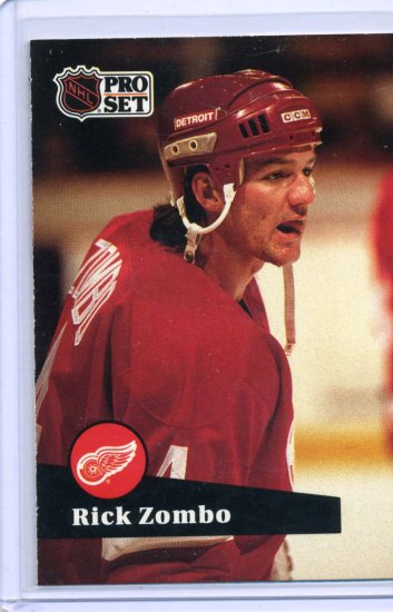 Rick Zombo 1991/92 Pro Set #64 NHL Hockey Card Near Mint Condition