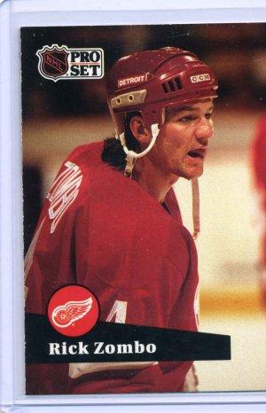 Rick Zombo 1991/92 Pro Set #64 NHL Hockey Card Near Mint Condition