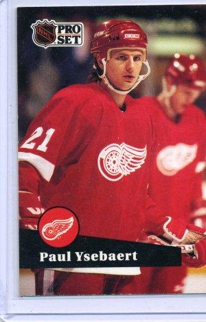 Paul Ysebaert 1991/92 Pro Set #59 NHL Hockey Card Near Mint Condition