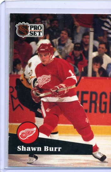 Shawn Burr 1991/92 Pro Set #58 NHL Hockey Card Near Mint Condition