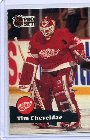 Tim Cheveldae 1991/92 Pro Set #57 NHL Hockey Card Near Mint Condition
