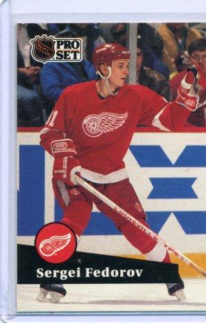 Sergei Federov 1991/92 Pro Set #53 NHL Hockey Card Near Mint Condition