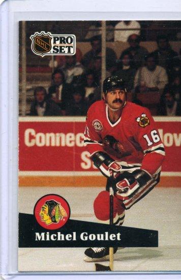 Michel Goulet 1991/92 Pro Set #50 NHL Hockey Card Near Mint Condition