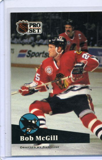 Bob McGill 1991/92 Pro Set #47 NHL Hockey Card Near Mint Condition