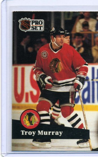 Troy Murray 1991/92 Pro Set #46 NHL Hockey Card Near Mint Condition